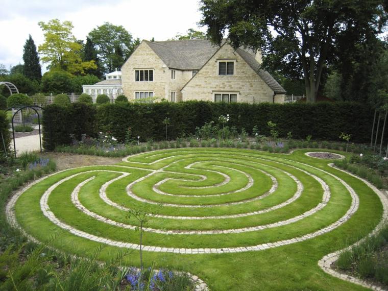 casa jardion laberintos forma espiral
