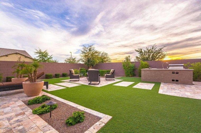 casa y jardin consejos fotos moderno cesped ideas