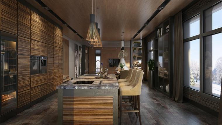 casas de lujo calidos muebles sillones cristales