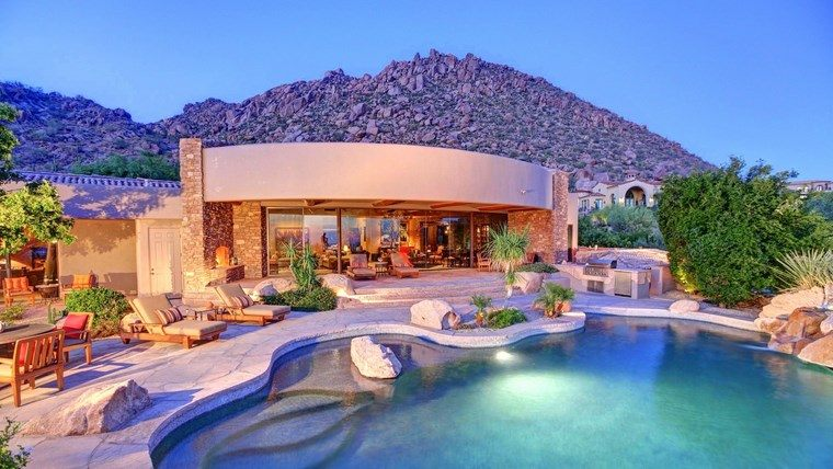 casas lujosas piscinas diseno original jardin ideas
