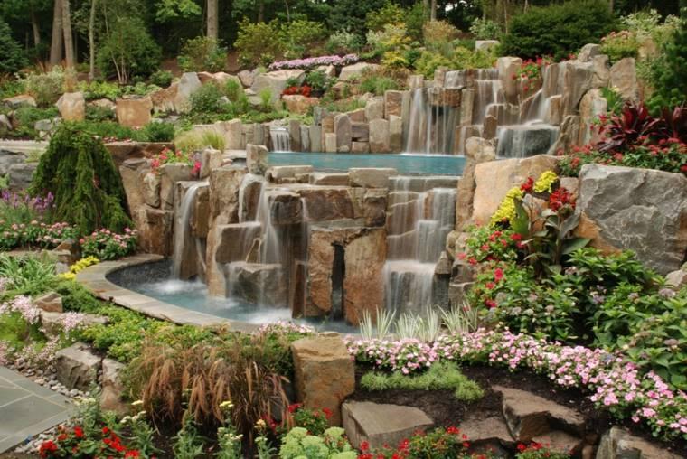 cascadas diseño lujoso moderno rocas