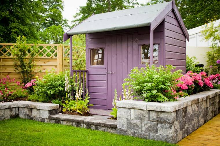 casetas de madera para jardin distinto nivel ideas