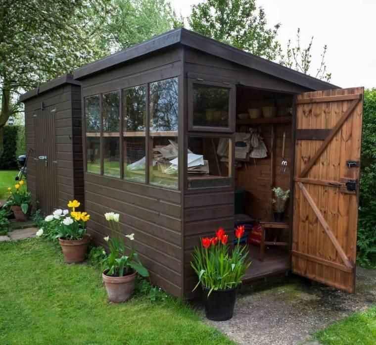 Casetas de madera para jardin muy bonitas for Casetas para guardar bicicletas