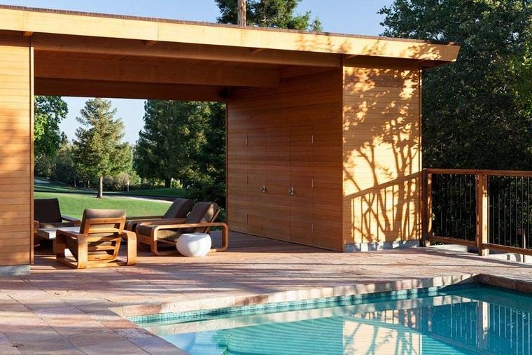 casetas madera jardin moderna piscina ideas