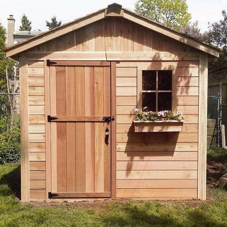 casetas de madera para jardin muy bonitas