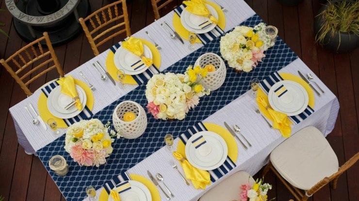 centro mesa flores primavera diseno colorido ideas