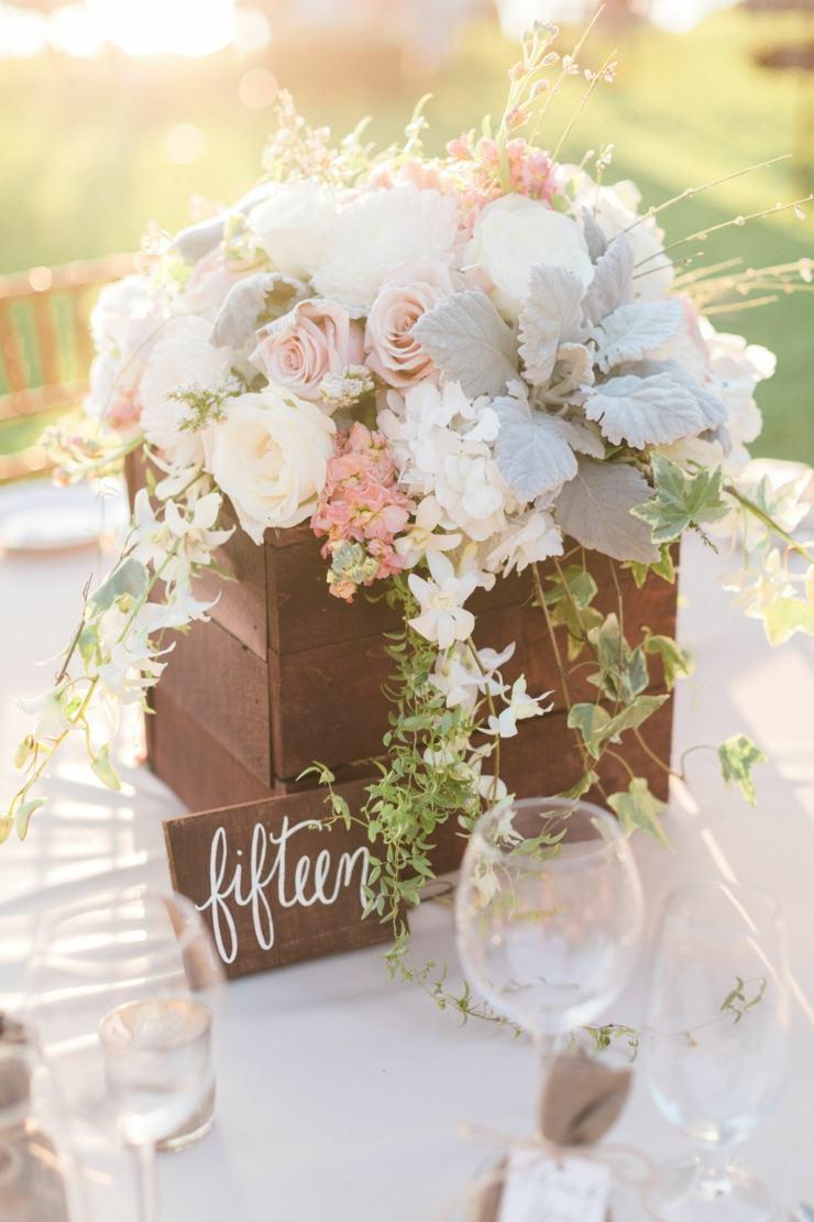 centro mesa flores primavera diseno rustico ideas