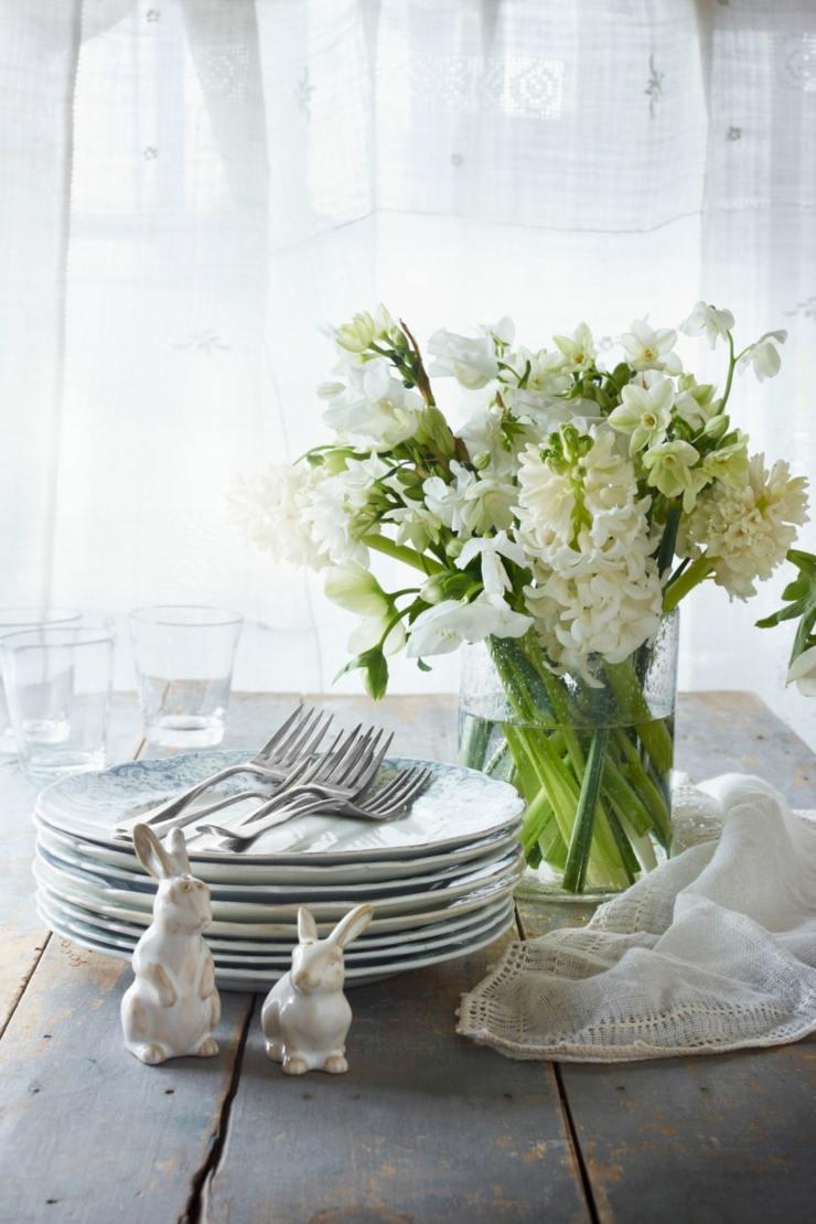 centro mesa flores primavera flore platos ideas