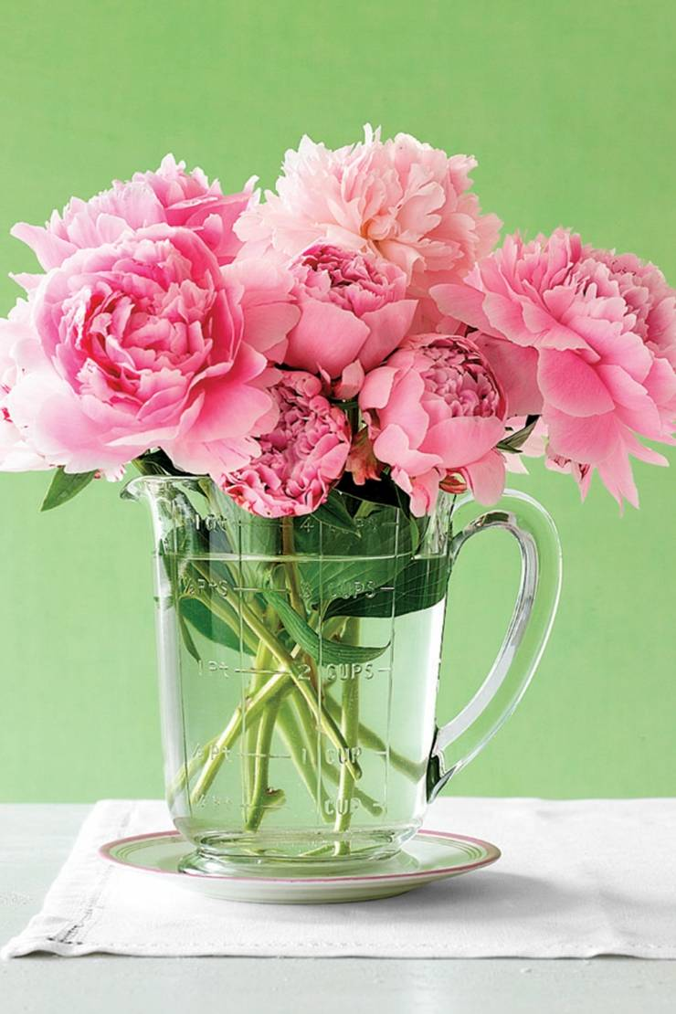centro mesa flores primavera flores rosa ideas