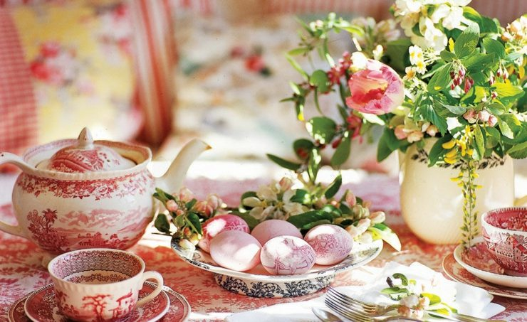mesa flores primavera mesa porcelana ideas