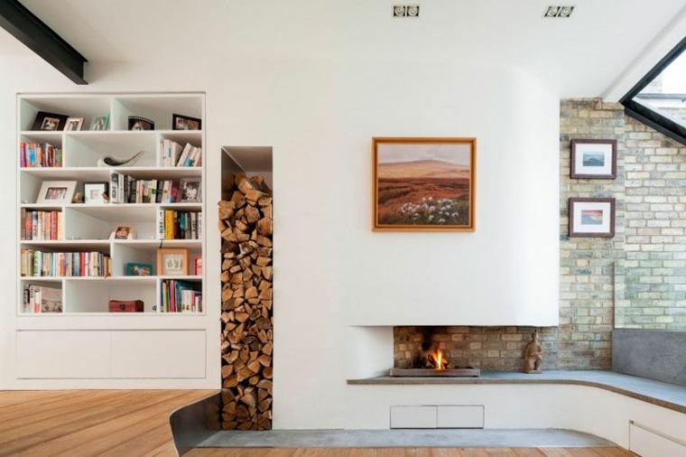 chimeneas de leña opciones lugar madera ideas