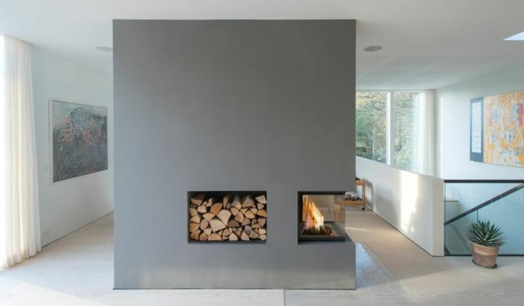 chimeneas lena gris opciones lugar madera ideas