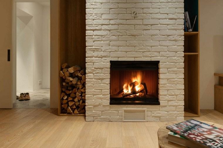 chimeneas lena opciones lugar madera pared ladrillo ideas