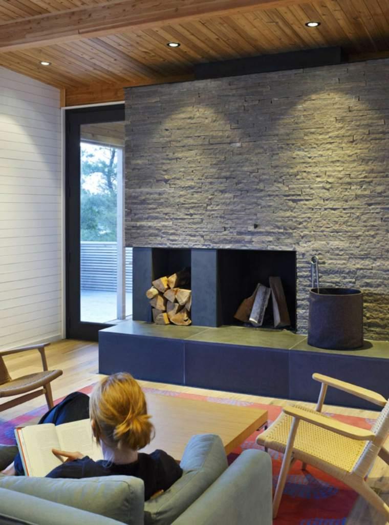 chimeneas lena salon opciones lugar madera ideas
