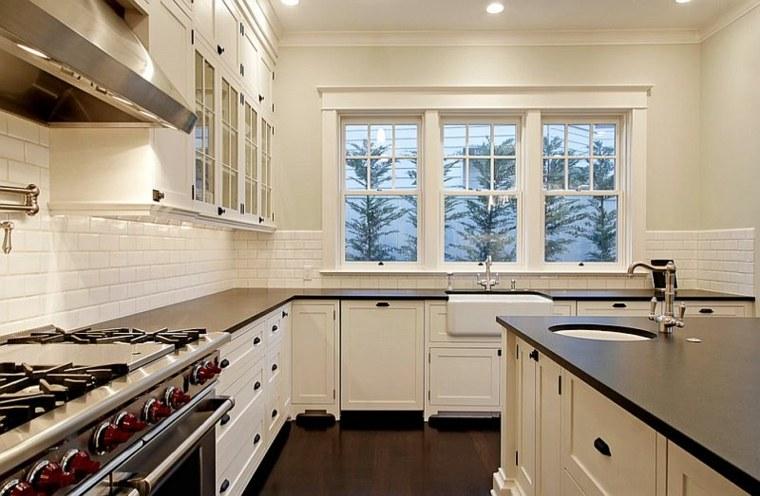 cocina blanca superficies negras Paul Moon Design