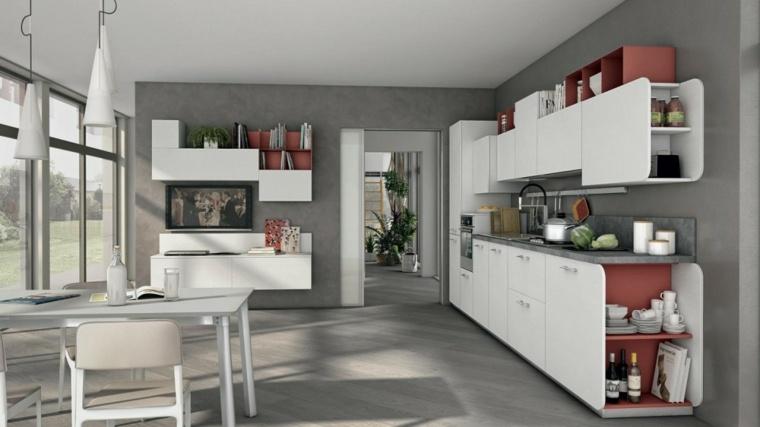 Cocinas blancas brillo y elegancia en el hogar for Cocinas diseno blancas