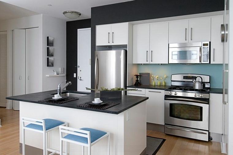 Cocina Blanca Y Negra Descubre La Tendencia De Este Ano - Cocinas-blancas-y-negras