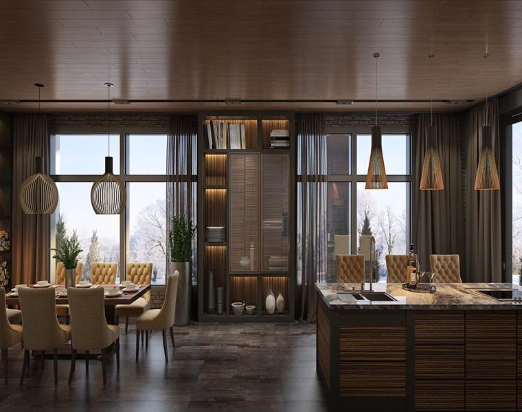 Casas de lujo tres dise os de interiores impresionantes for Diseno de salon comedor