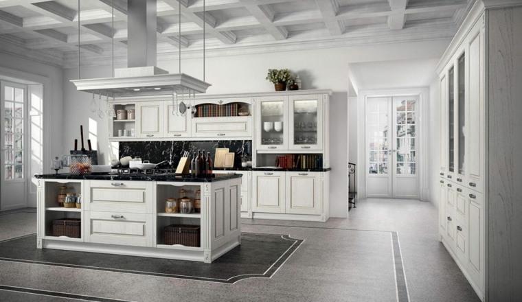 Cocinas vintage 26 dise os con un encanto retro atemporal - Cocinas blancas de diseno ...