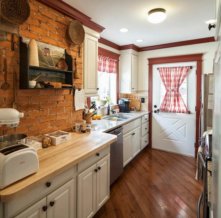 cocina diseno retro vintage estanterias anticuadas ideas