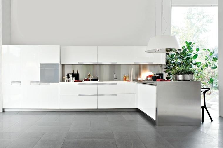 Cocinas blancas brillo y elegancia en el hogar for Cocinas blancas modernas 2016