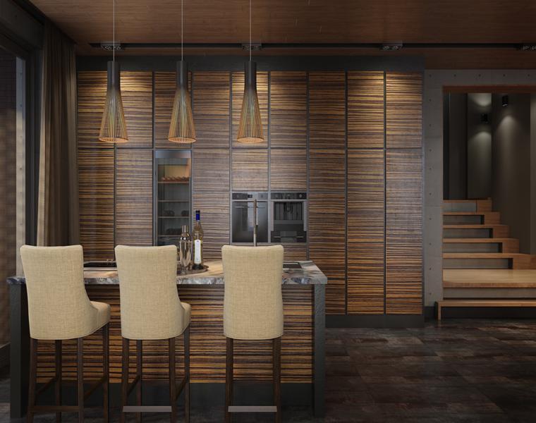 cocina diseño moderno muebles madera