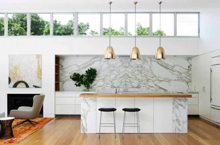 cocina marmol diseño moderno
