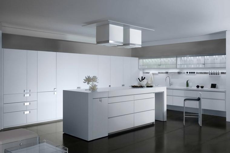 cocinas blancas brillo elegancia diseno moderno ideas