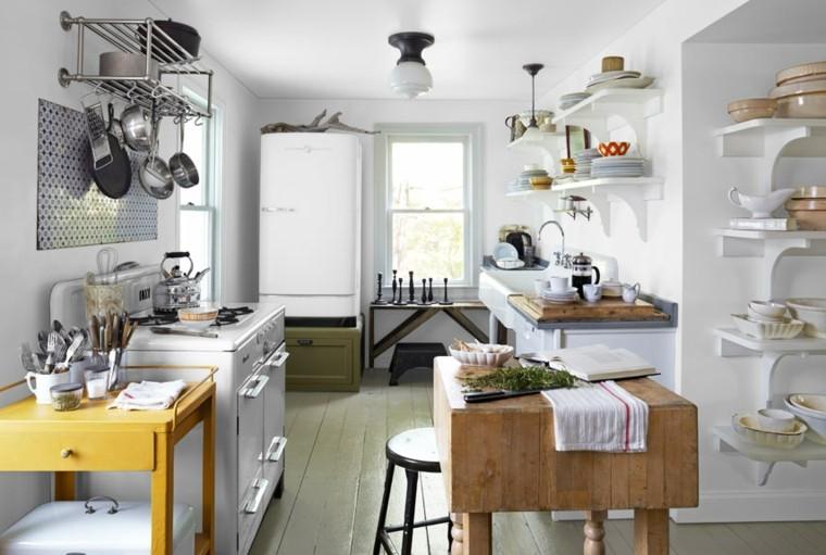 cocinas blancas brillo elegancia diseno retro vintage ideas