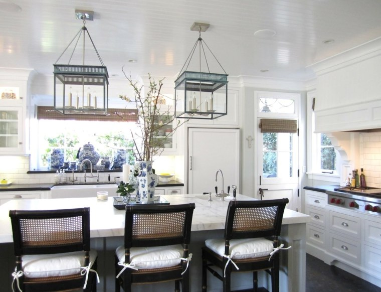 cocinas blancas brillo elegancia gabinetes blancos ideas