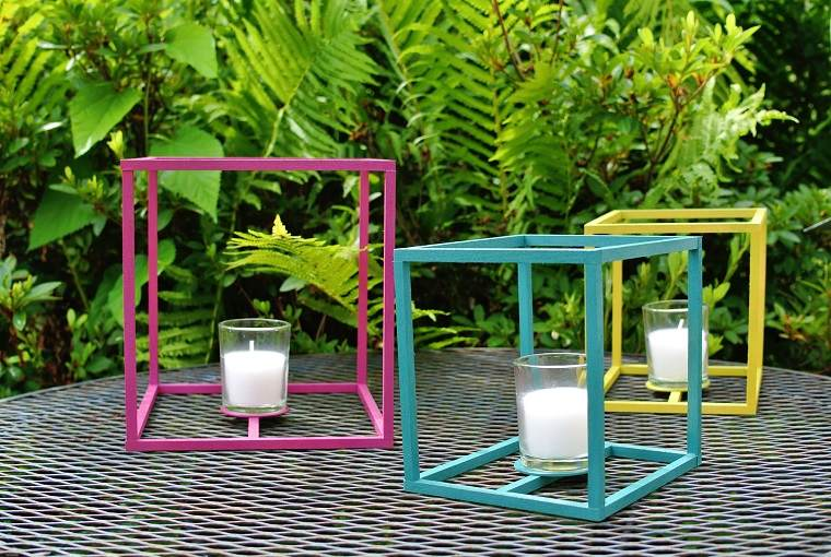 como hacer manualidades candelabros colordios ideas