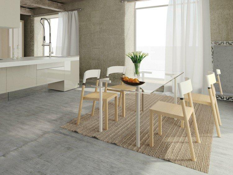 conjunto sillas comedor modernas ajustables