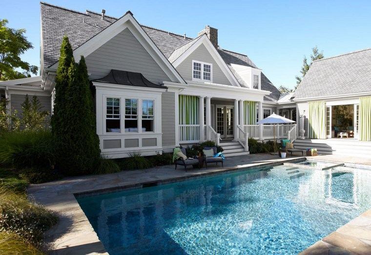 construccion de piscinas diseno original jardin amplio ideas