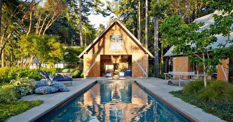 construccion piscinas diseno original jardin caseta ideas