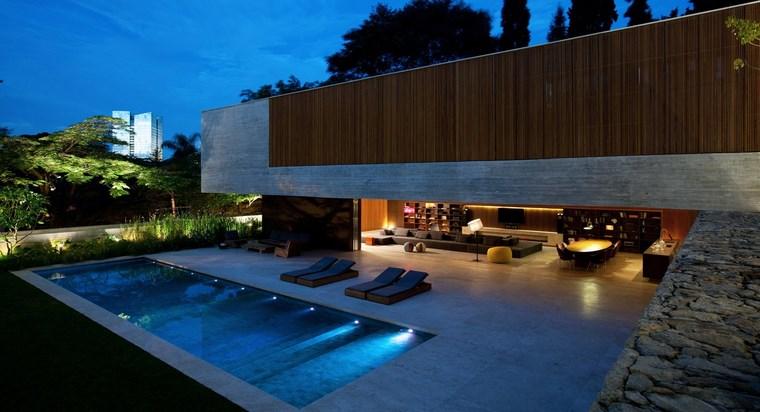construccion de piscinas diseno original jardin inspiracion ideas
