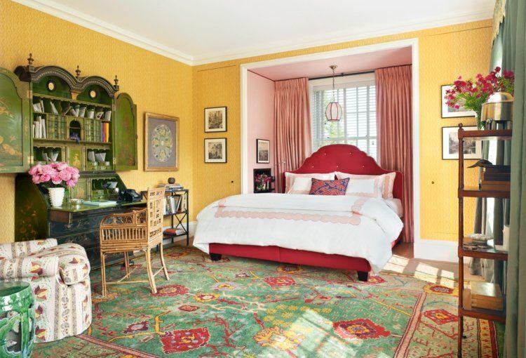 cortinas colores originales verdes rosa