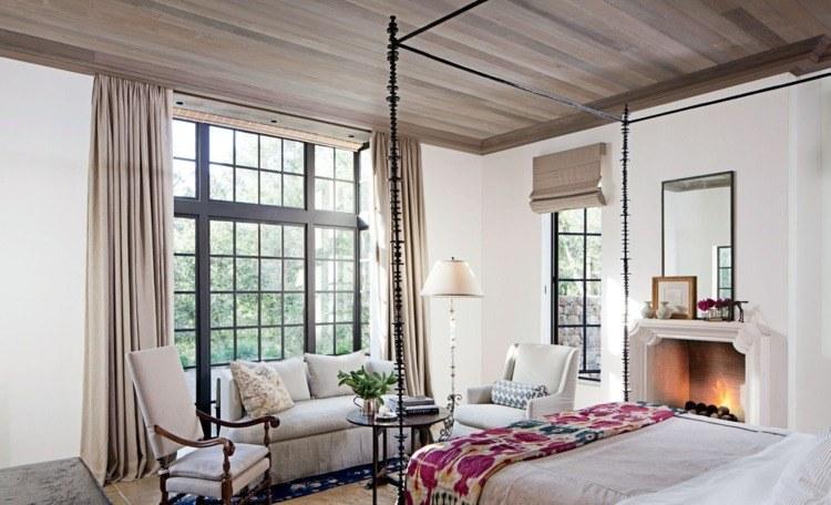 cortinas lisas color beige deco