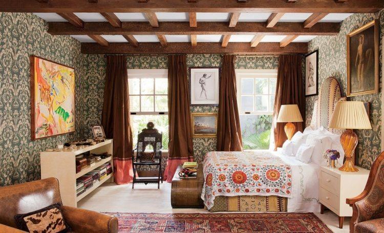 cortinas lisas color marrón