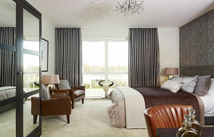 cortinas lisas color gris brillante