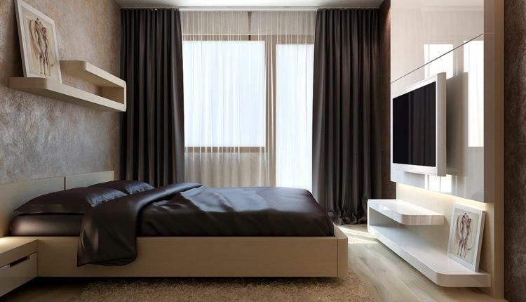 cortinas lisas de color oscuro