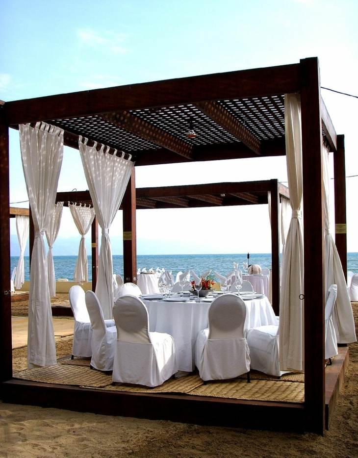 cortinas playas elementos diseño boda