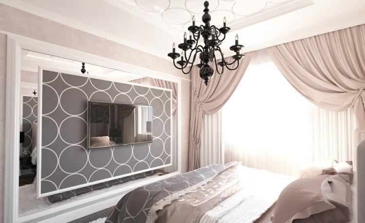 cortinas para dormitorios veinticuatro dise os de moda. Black Bedroom Furniture Sets. Home Design Ideas