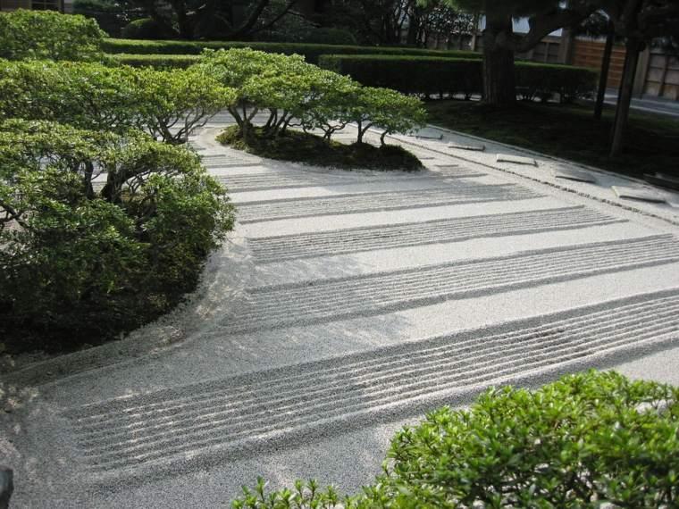 decoración jardin zen arena