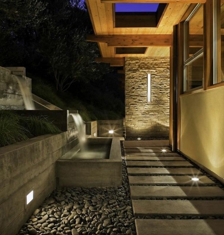 jardines modernos camino cemento
