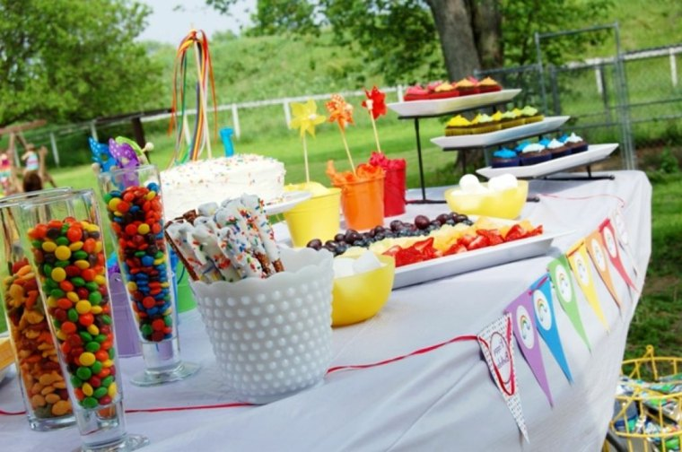 decorar mesa fiesta infantil