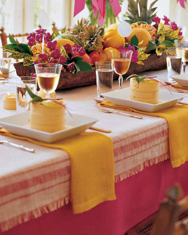 decorar mesa frutas verano