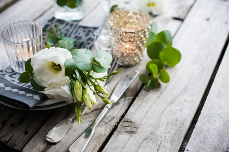 decoración mesa sencilla rustixca