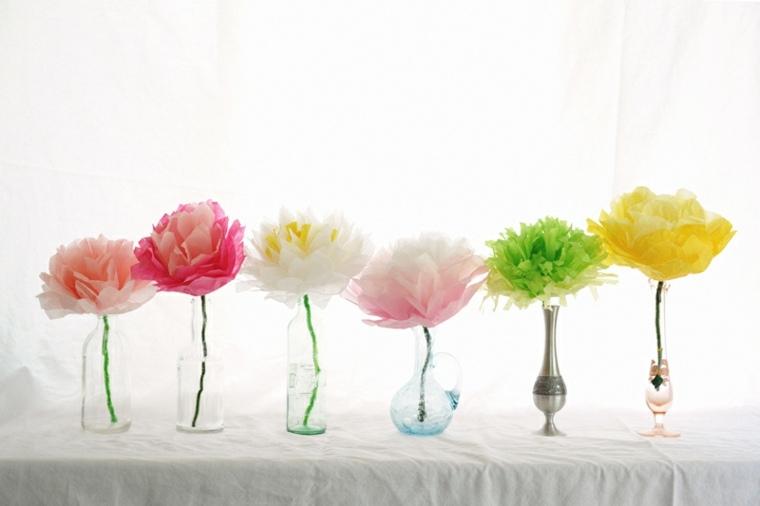 decoracion original flores papel