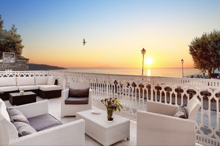decoracion terrazas muebles ratan blanco exterior ideas