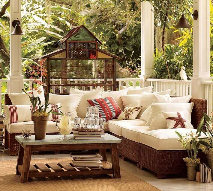 decoracion terrazas muebles rattan diseno moderno ideas